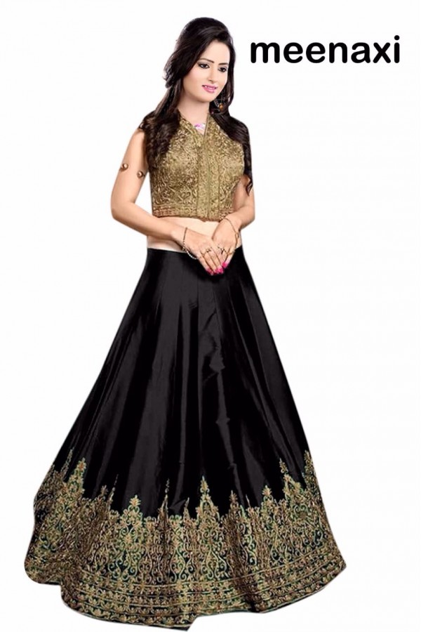Bollywood Replica - Wedding Wear Black & Golden Lehenga Choli - M03