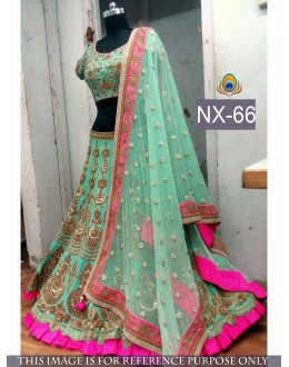 Bollywood Replica - Bridal Sea Green Lehenga Choli - NX-66