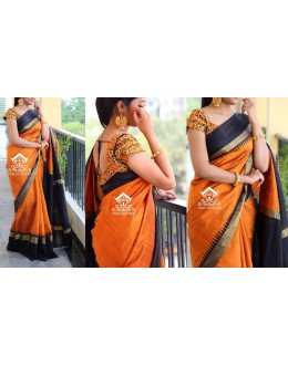 Bollywood Replica - Wedding Wear Orange Saree - O1