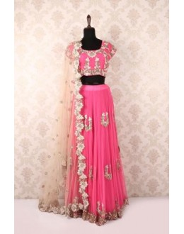 Bollywood Replica - Party Wear Pink Net Lehenga Choli - P-52