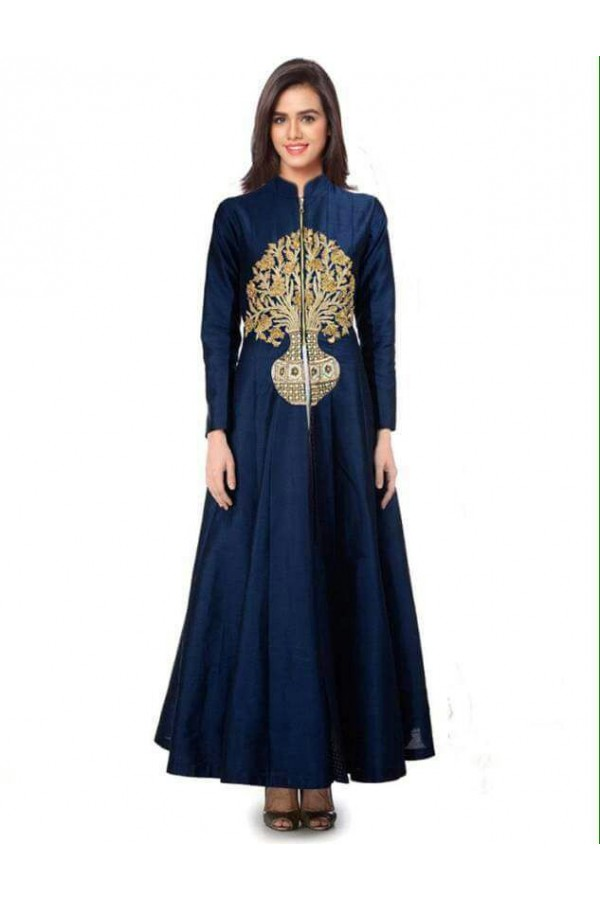 Bollywood Style - Party Wear Blue Readymade Gown - PG01