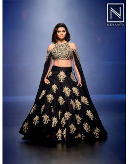 Bollywood Replica - Prachi Desai In Designer Black Banglori Lehenga Choli - PL01