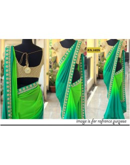 Bollywood Replica - Wedding Wear Multi-Colour Georgette Saree - PN-1029