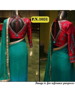 Bollywood Replica - Party Wear Rama Green Saree - PN-1031