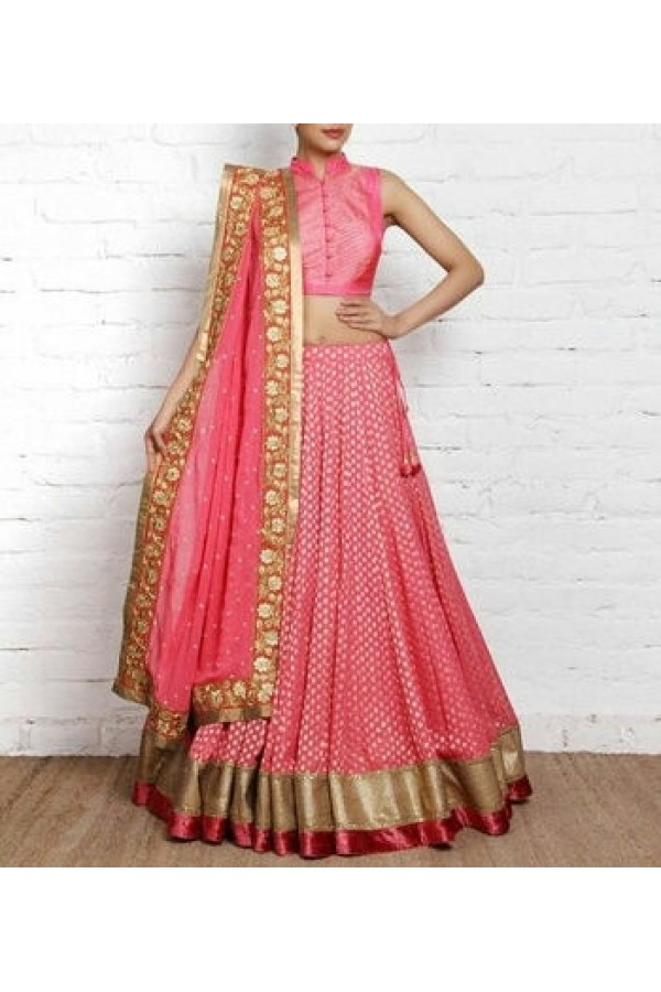 Bollywood Replica - Party Wear Fancy Pink Lehenga Choli - Pink01