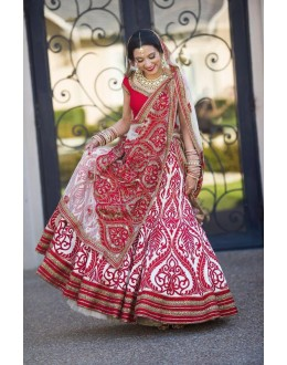 Bollywood Replica - Bridal Heavy Embroidered Pink Lehenga Choli - R01
