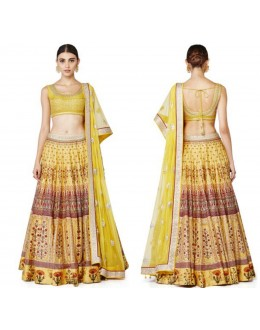 Bollywood Replica - Riwaayat Canary Yellow Lehenga Choli -  S1007