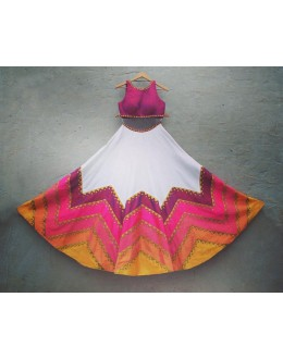 Bollywood Replica - Party Wear Multi-Coloured Raw Silk Lehenga Choli - S1012