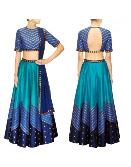Bollywood Replica - Navratri Special Teal Blue Lehenga Choli - S1025