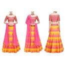Bollywood Replica - Party Wear Multi-Colour Silk Striped Lehenga Choli - S1030
