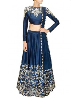 Bollywood Replica - Navratri Special Navy Blue Lehnega Choli - S223