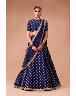 Bollywood Style - Wedding Wear Blue Lehenga Choli  - S605