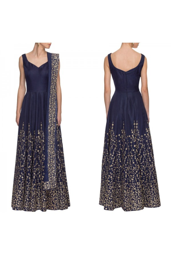Bollywood Replica - Designer Navy Blue Embroidered Anarkali Suit  - S613