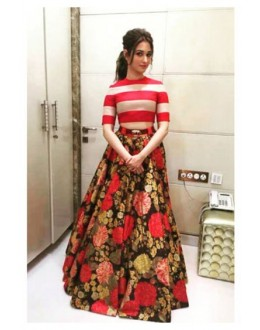 Bollywood Replica - Tamanna Bhatia In Designer Crop Top Lehenga - T52