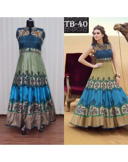 Bollywood Replica - Designer Digital Printed Multi-Coloured Anarkali Gown - TB-40
