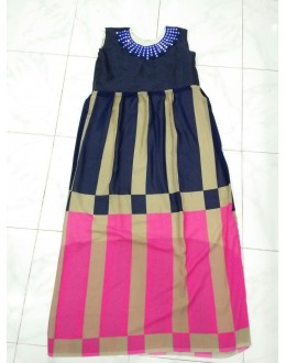 Bollywood Inspired - Ready-Made Designer Pink & Navy Blue Fancy Kurti - Taffri-4