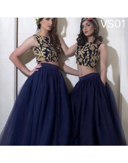 Bollywood Replica - Wedding Wear Blue Lehenga Choli - VS01