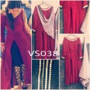 Bollywood Replica - Fancy Maroon Slit Salwar Suit - VS038