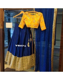 Bollywood Replica - Wedding Wear Blue & Yellow Lehenga Choli - VS071
