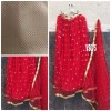 Bollywood Style - Bridal Red Net Lehenga Choli - VS075