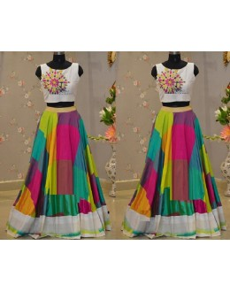 Bollywood Replica - Party Wear Banglori Silk Multi-Colour Lehenga Choli - WM52