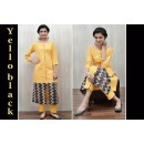 Bollywood Replica -Party Wear Yellow  & Black  Cotton Salwar Suit - YB