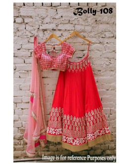 Bollywood Replica - Wedding Wear Red Pure Silk Lehenga Choli - Bolly-108