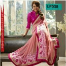 Bollywood Replica - Designer Pink Party Wear Saree - LF038
