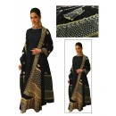 Bollywood Replica - Deepika Padukone Designer Black Georgette  Anarkali Suit - D02