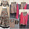 Bollywood Replica -  Designer Multi Coloured Raw Silk Lehenga  - 1111