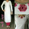 Bollywood Replica - Summer Special White Khadi Cotton Salwar Suit - MV