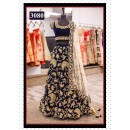 Bollywood Replica - Wedding Wear Heavy Embroidered Blue Lehenga Choli - 3080