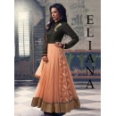 Bollywood Replica- Wedding Wear Orange & Black Anarkali Suit - Eliana