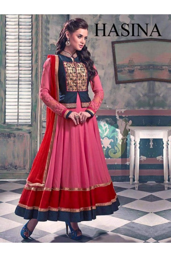 Bollywood Replica- Wedding Wear Pink Anarkali Suit - Hasina1