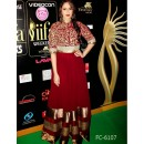 Bollywood Replica - Huma Qureshi Georgette Fabric Black & Red Embroidered Suit - FC-6107