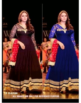 Bollywood Replica - Huma Qureshi in a Blue and Coffee Color Anarkali Suit  - FC-6104