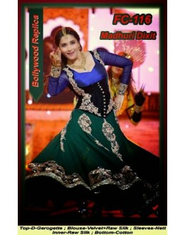 Bollywood Replica - Madhuri Dixit Beautiful Georgette Anarkali Suit  - FC-116