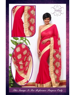 Bollywood Replica - Mandira Bedi Pink colour Georgette Net Saree - 7052 (IB-654)