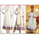 Bollywood Replica - Sania Mirza in White Embroidered Anarkali Suit - S126