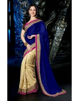 Bollywood Replica - Tamanna Bhatia Golden Blue Color Saree - 7054 (IB-654)