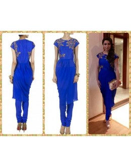 Bollywood Replica - Tisca Chopra in Blue Georgette Anarkali Suit - S137