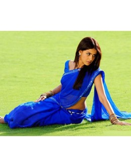 Bollywood Replica - Genelia D'Souza in Stylish Royal Blue Color Saree - 3633