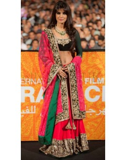 Bollywood Replica - Priyanka Chopra Hot Pink Lehenga at Marrakech International Film Festival-5005