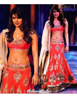Bollywood Replica - Priyanka Chopra in Designer Bridal Red Lehenga - 229 (OM-VOL-5)