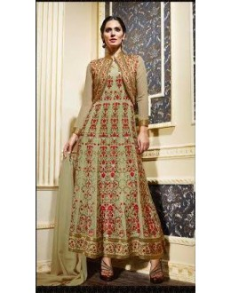Eid Special Light Green Georgette  Anarkali Suit - 1357