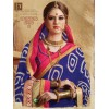 Party Wear Blue Georgette  Saree - 3514