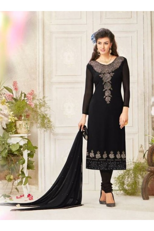 Party wear Black Georgette Salwar suit - 233
