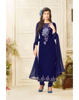 Party wear blue Georgette Salwar suit - 227