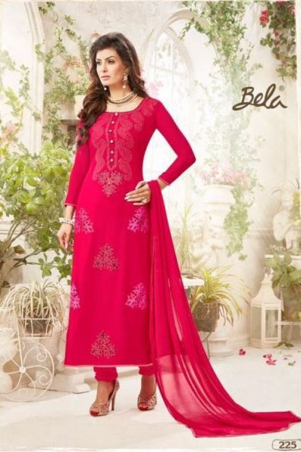 Party wear Pink Georgette Salwar suit - 225
