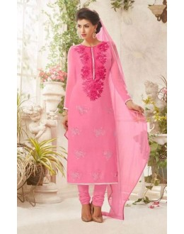 Party wear Pink Georgette Salwar suit - 232